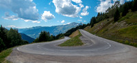 One of the many switchback up to the Col du Petit Saint-Bernard
