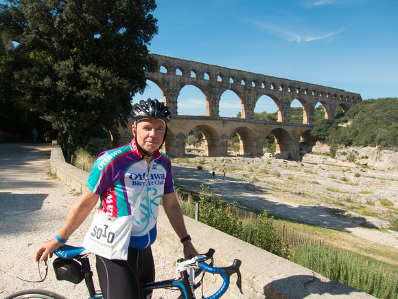 Me in front of the Pont du Gard